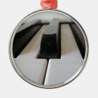 piano keys Silver-Colored round decoration