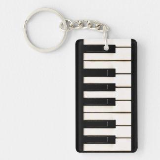 Piano Keys Single-Sided Rectangular Acrylic Key Ring