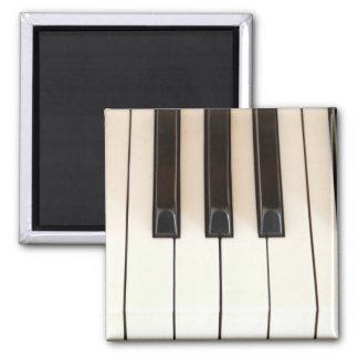 Piano Keys Square Magnet