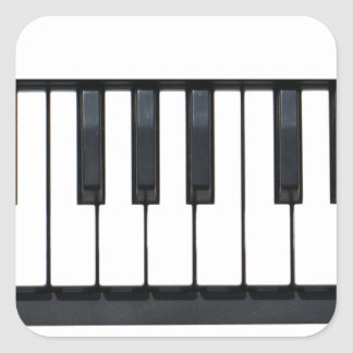 Piano Keys Square Sticker