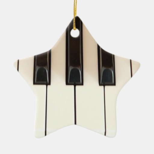 Piano Keys Star Christmas Tree Ornaments