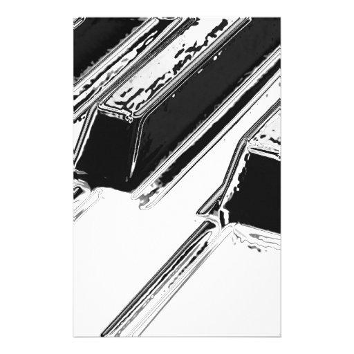 Piano Keys Personalized Stationery