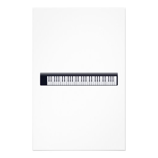 Piano Keys Custom Stationery