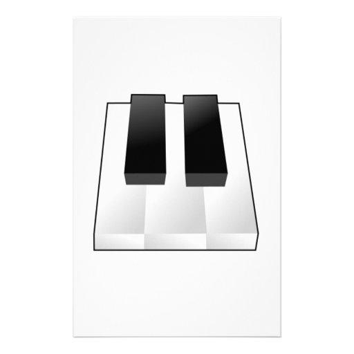 Piano Keys Customized Stationery