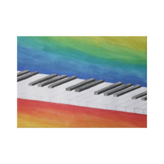 Piano Keys Stretched Canvas Print