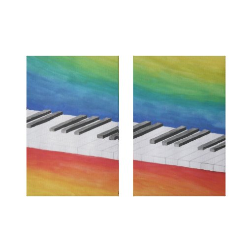 Piano Keys two panel Gallery Wrap Canvas