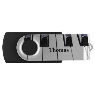 Piano Keys USB Drive Swivel USB 2.0 Flash Drive