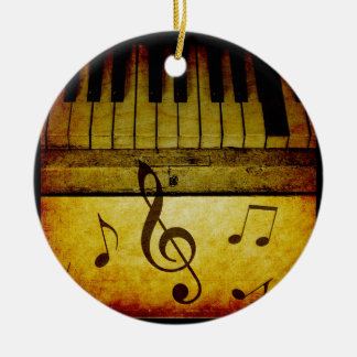 Piano Keys Vintage Christmas Ornament