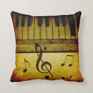 Piano Keys Vintage Cushion