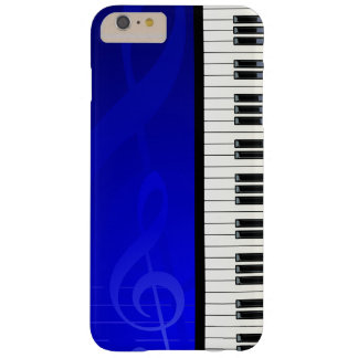 Piano Keys with Blue Effect Musical Notes Barely There iPhone 6 Plus Case