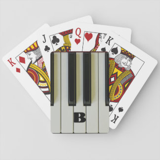 Piano Keys with Custom Initial Playing Cards