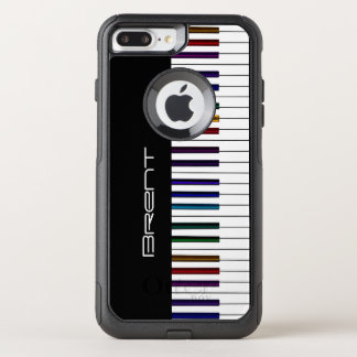 Piano Keys With Dark Rainbow Highlights Music OtterBox Commuter iPhone 7 Plus Case