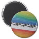 Piano Keys with Rainbow Colours