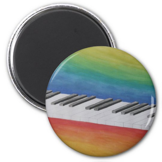Piano Keys with Rainbow Colours Magnet