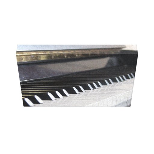 Piano keys wrapped canvas canvas print