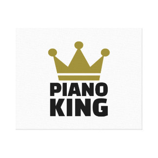 Piano King Stretched Canvas Prints