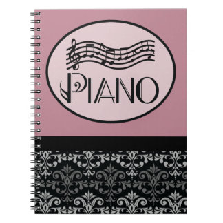 Piano Lesson Practice Notes Notebook