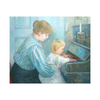 Piano Lesson Wrapped Canvas Wall Art