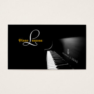 Piano Lessons, Music Business Card
