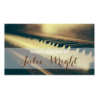 Piano Lessons, Music Instructor Business Card Pack Of Standard Business Cards