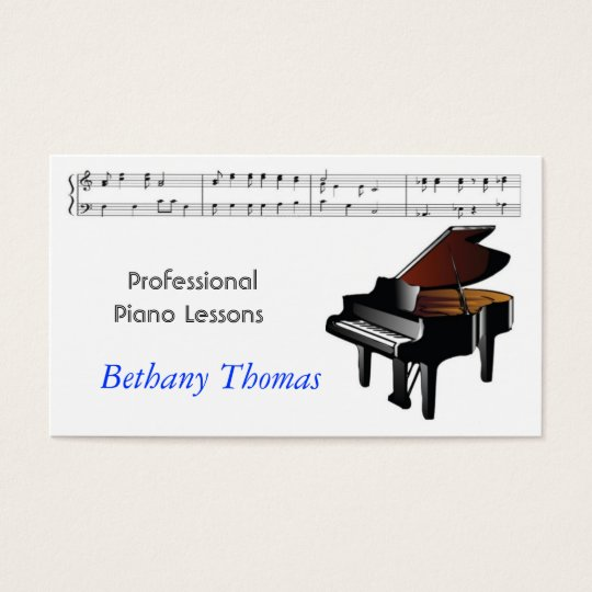Piano Lessons Piano Sales Business Card