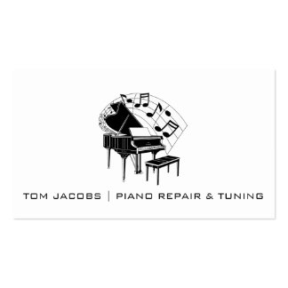 Piano Lessons, Piano tuning and repa Business Card