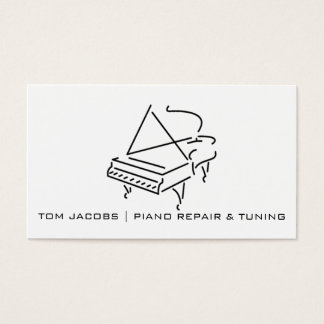 Piano Lessons, Piano tuning and repair Business Card