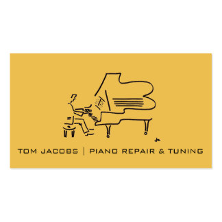 Piano Lessons, Piano tuning and repair Pack Of Standard Business Cards