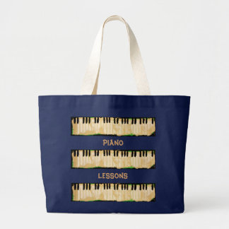 piano lessons tote bag