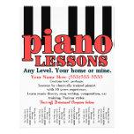Piano Lessons. Tutor. Music Teacher. Tear sheet 21.5 Cm X 28 Cm Flyer