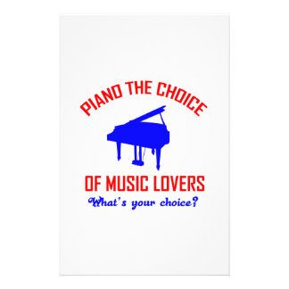 Piano lovers design personalized stationery
