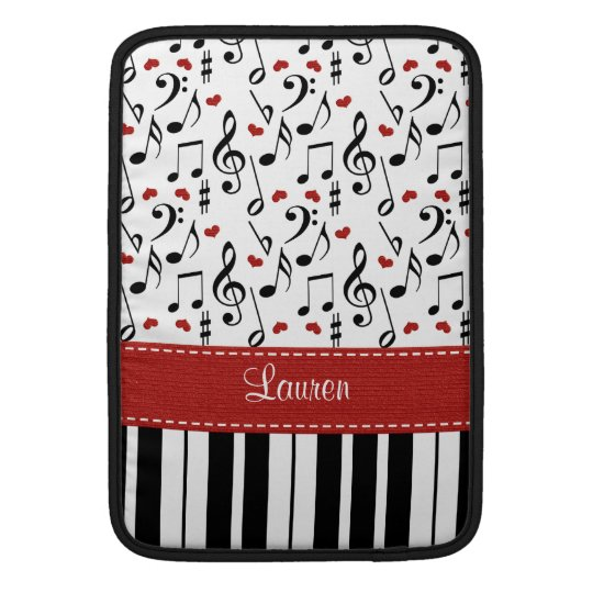 Piano Macbook Air Sleeve 13 and 11 Inch