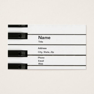 Piano Man Business Card