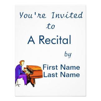 Piano man playing grand piano blue coat custom announcement