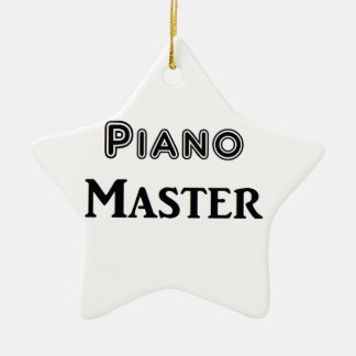 Piano Master Double-Sided Star Ceramic Christmas Ornament