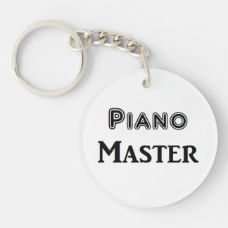 Piano Master Single-Sided Round Acrylic Key Ring