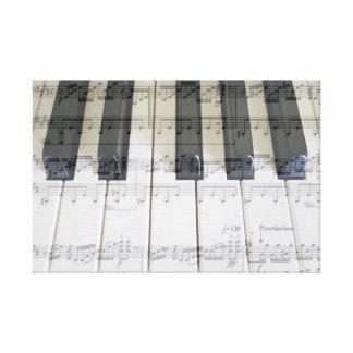 Piano & Moonlight Sonata - 3rd Movement Canvas Print
