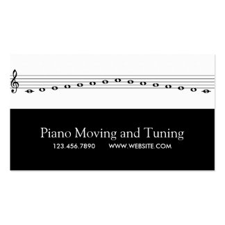 Piano Moving and Tuning Movers Music Repair Pack Of Standard Business Cards