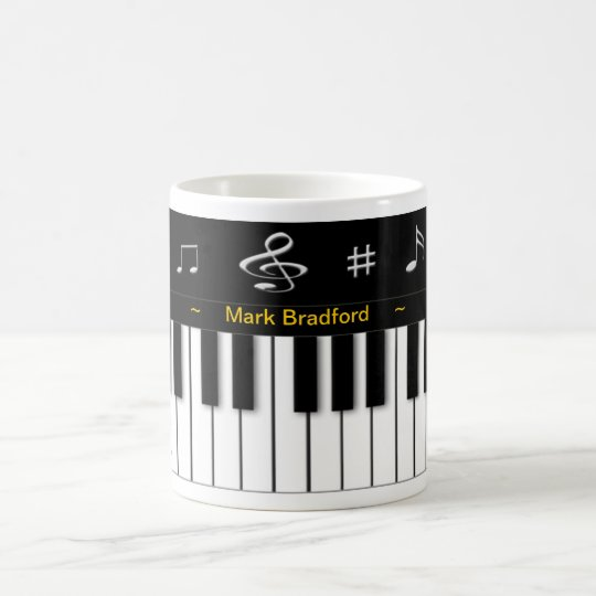 Piano Mug - Personalise Name