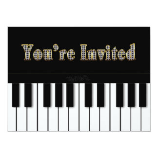 PIANO MULTI PURPOSE INVITATION - GOLD