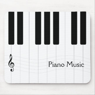 Piano Music Black and White Mouse Mat