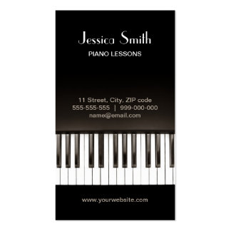 Piano Music business card