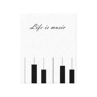 Piano Music Canvas Canvas Print