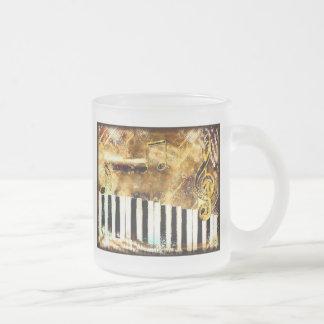 Piano Music Frosted Glass Mug