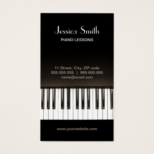 Piano Music Lessons business card