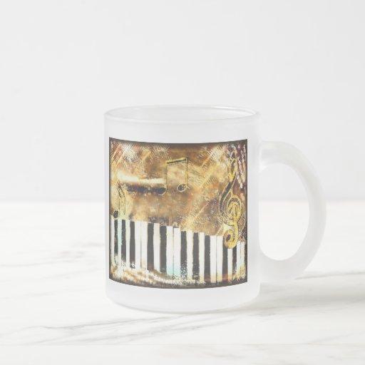 Piano Music Coffee Mugs