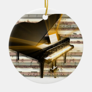 piano_music_notes christmas ornament