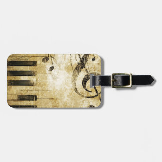 Piano Music Notes Luggage Tag