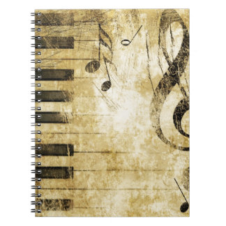 Piano Music Notes Notebook