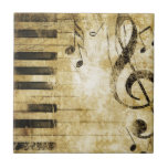 Piano Music Notes Small Square Tile